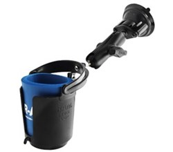 RV ram mount drink cup holder with suction base ram b 132su