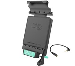 IntelliSkin with GDS ram mounts gds locking vehicle dock with audio jumper cable